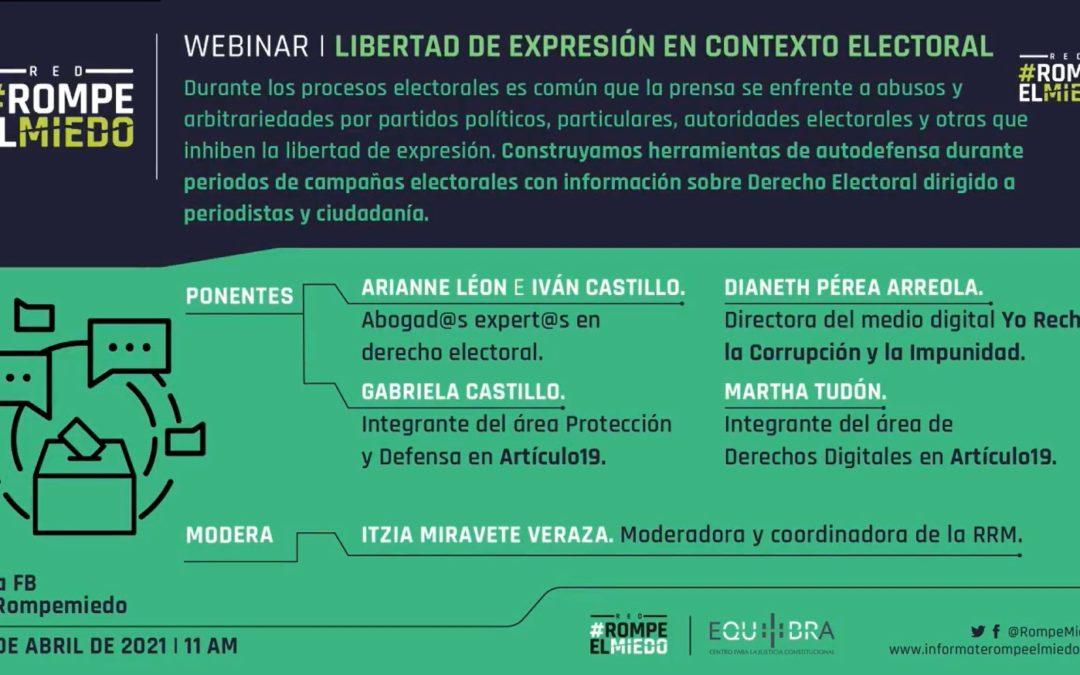 Webinar 9: Libertad de Expresión en Contexto Electoral
