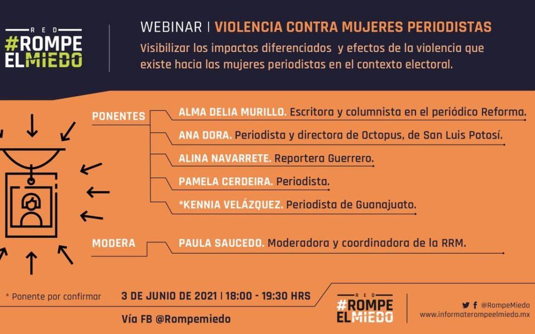 Webinar 10: violencia contra mujeres periodistas